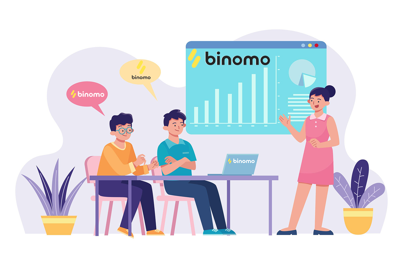 كيفية التسجيل والتجارة في Binomo