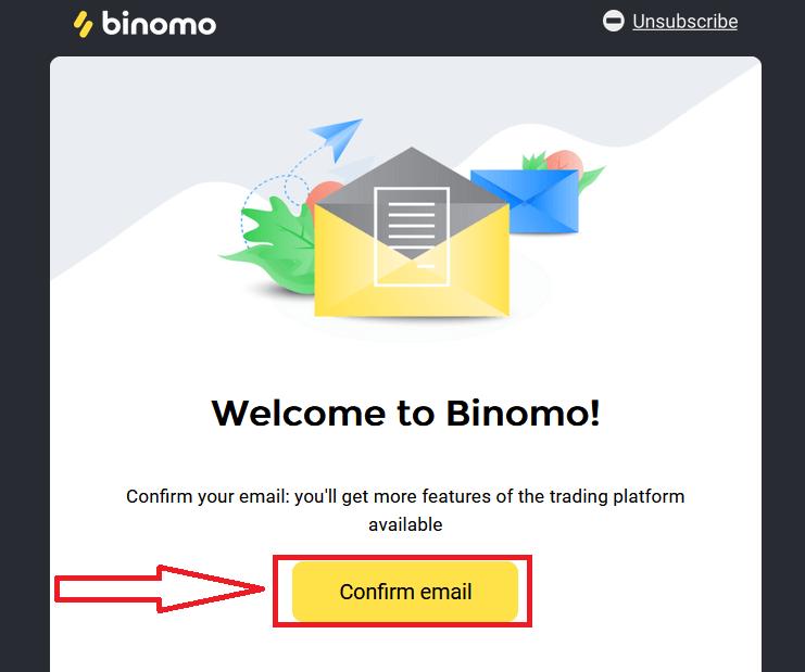 كيفية التسجيل والتحقق من الحساب في Binomo