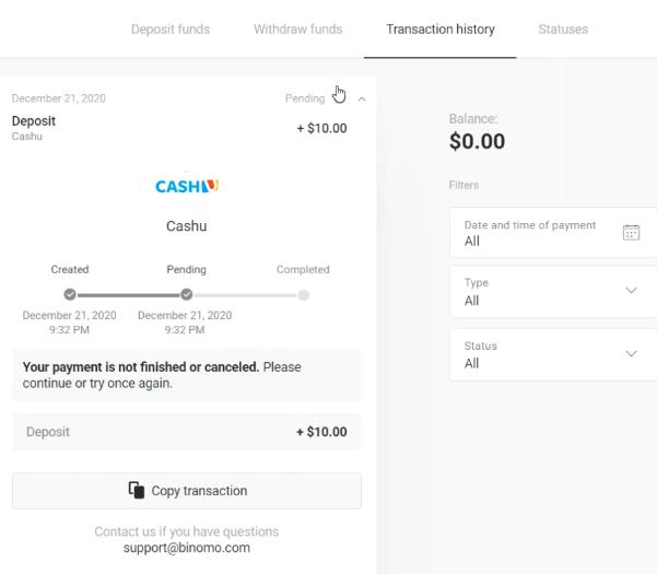 كيفية التسجيل وإيداع الأموال في Binomo