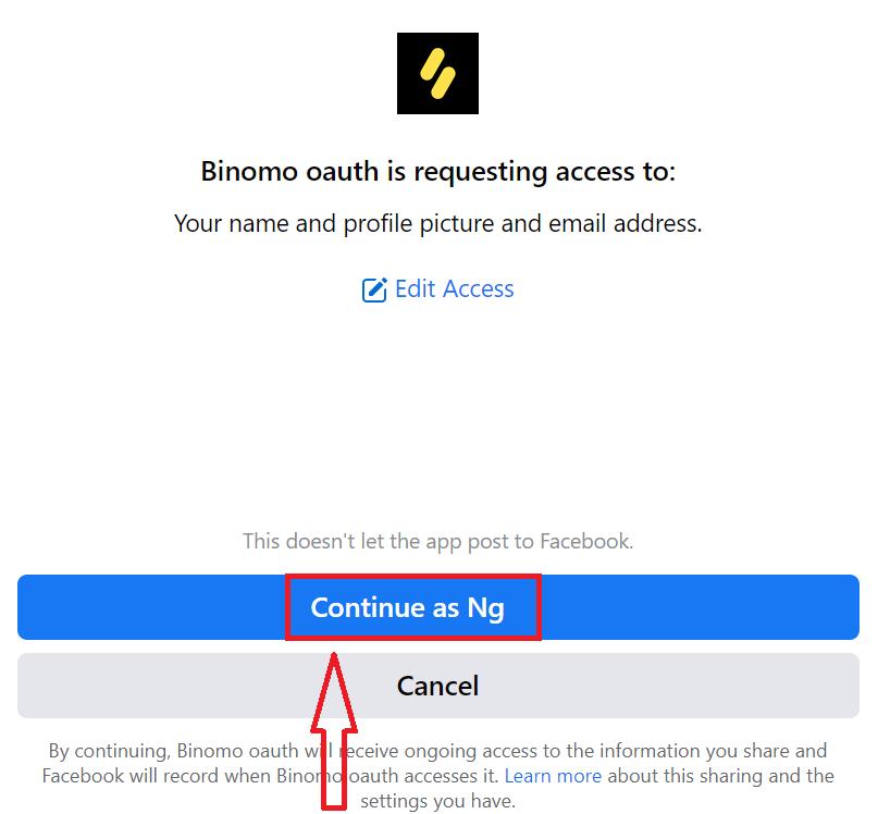 كيفية التسجيل وتسجيل الدخول في حساب Binomo